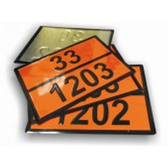 Табличка оранжевого цвета по ДОПОГ(2 и 3 класса, к