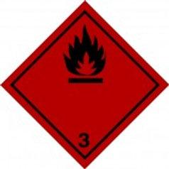 """Знак (алюм) """"Класс 3. Легковоспламеняющиеся жидкос"""