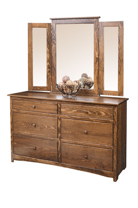 Shaker Dresser and Mirror