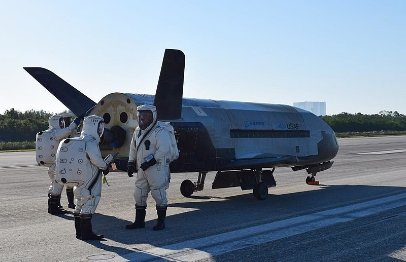 The Air Force's X-37B Orbital Test Vehicle mission 4 landed at NASA 's Kennedy Space Center Shuttle Landing Facility May 7, 2017. Managed by the Air Force Rapid Capabilities Office, the X-37B program is the newest and most advanced re-entry spacecraft that performs risk reduction, experimentation and concept of operations development for reusable space vehicle technologies.