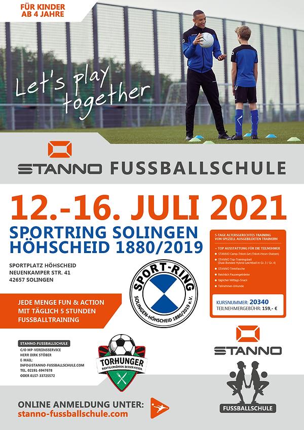 Sportring Solingen - Plakat-A2_STANNO_Fu