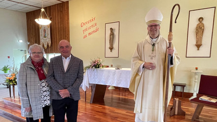Accueilli au rite d'admission au diaconat permanent