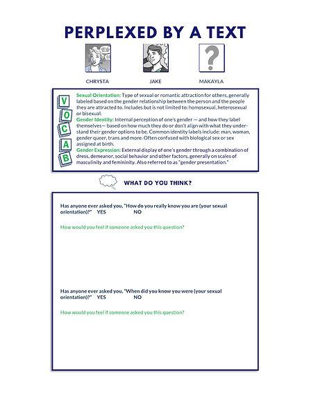 Define the Line activity sheet