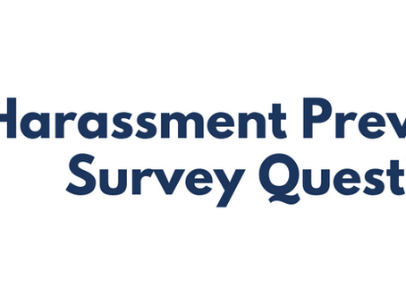 Questions for a Sexual Harassment Survey