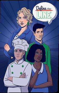 Define the Line comic book cover art.
