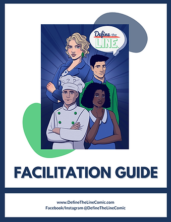 Define the Line sexual harassment training facilitation guide cover image.