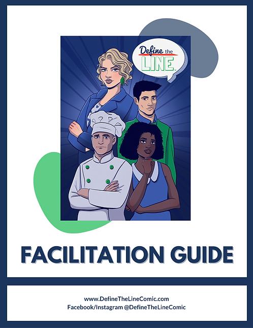 Define the Line Facilitation Guide + Digital Comic Book (English & Spanish)
