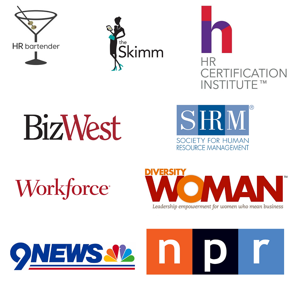 Publications Define the Line has been featured in. HR bartender, The Skimm, Bizwest, SHRM, Workforce Magazine, Diversity Woman, NPR