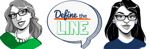 Define the Line logo and creators Nikki Larchar and Tina Todd