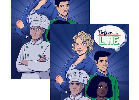 Define the Line Digital Comic Book (English & Spanish)