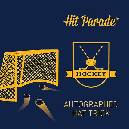 Autographed Hockey Hat Trick