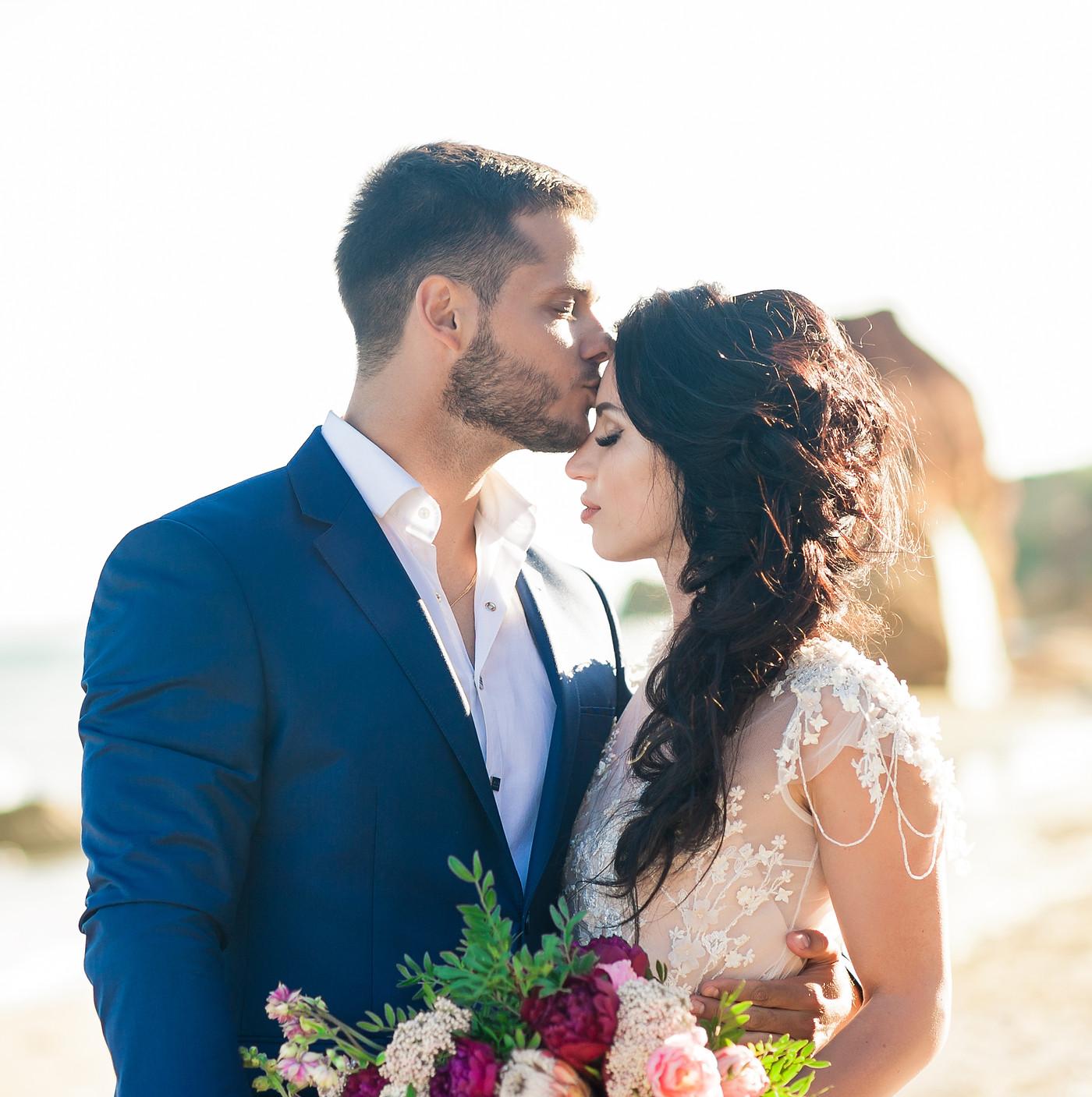 wedding couple. Beautiful bride and groo
