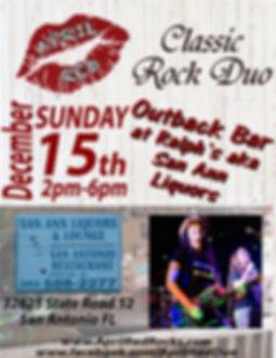 Ralph's aka San Ann Liquors, Dade City, FL, 12.15.19., Live Music, Classic Rock, Sunday Funday, April Red