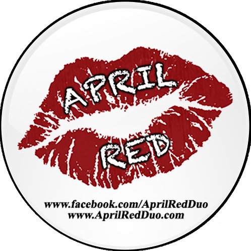 "White April Red 4"" Vinyl Lips Sticker"
