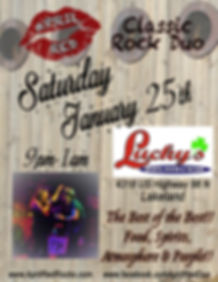 Lucky's Sports Oyster Tiki Bar, 1.25.20., Lakeland, FL, Live Music, Nightlife, Classic Rock, April Red