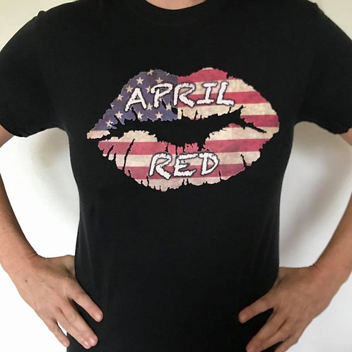 T-shirt - US Flag Lips 2X,3X,4X