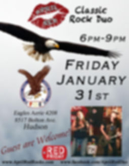 Eagles 4208, Spring Hill, Hudson, FL, 1.31.20., Live Music, Classic Rock, April Red, Nightlife