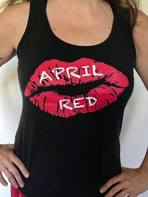 Ladies Flowy Tank - Red Lips XS, S, M, L, XL