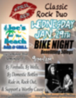Mr. Joes Off The Beach Bike Night, 1.29.