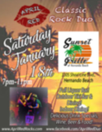 Sunset Grill, Hernando Beach, FL, 1.18.20., Live Music, Classic Rock, Nightlife