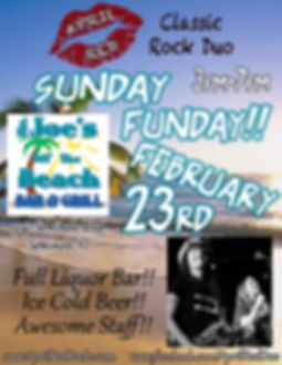 Mr. Joe's Off The Beach, 2.23.20, Seminole, FL, Live Music, Classic Rock, Things to do, Sunday Funday, Classic Rock, April Red