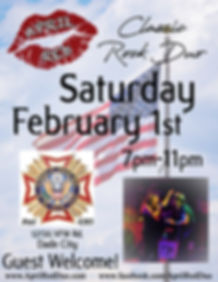 VFW Post 4283, Dade City, 2.1.20. Live Music, April Red, Classic Rock, Nightlife