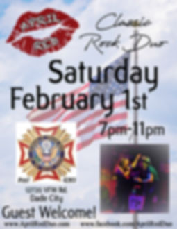 VFW Post 4283, Dade City, 2.1.20., Live Music, Classic Rock, Nightlife, April Red
