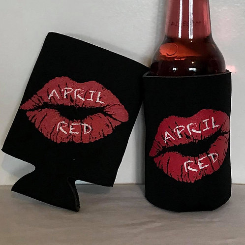 April Red Koozie