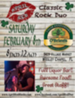 O'Briens Irish Pub & Grill, Wesley Chapel, 2.8.20, Live music, Classic Rock, Nightlife, April Red
