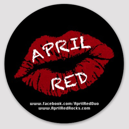 "April Red 4"" Vinyl Lips Sticker"