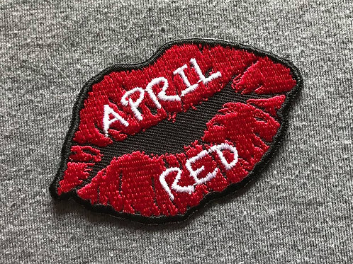 "Red Lips Logo Patch 3""x2"""