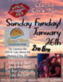 Sunset Tavern, Lakefront Bar, 1.26.20., Haines City, FL, Live Music, Nightlife, Classic Rock, April Red