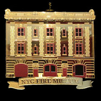 Fire Museum Brass Ornament