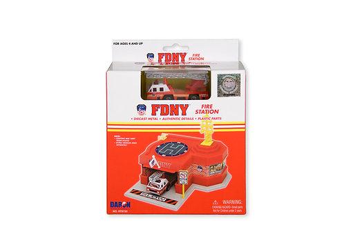 FDNY Mini Fire Station w/ 1 Vehicle