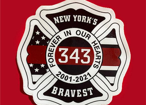 9/11 20th Anniversary Sticker