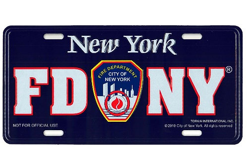 FDNY License Plate