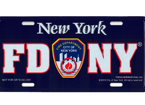 FDNY Novelty License Plate