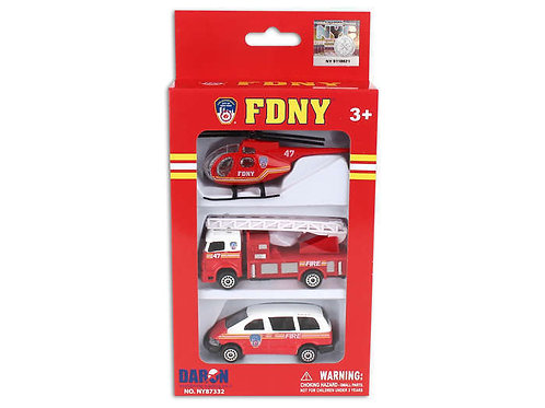 FDNY 3 Vehicle Set