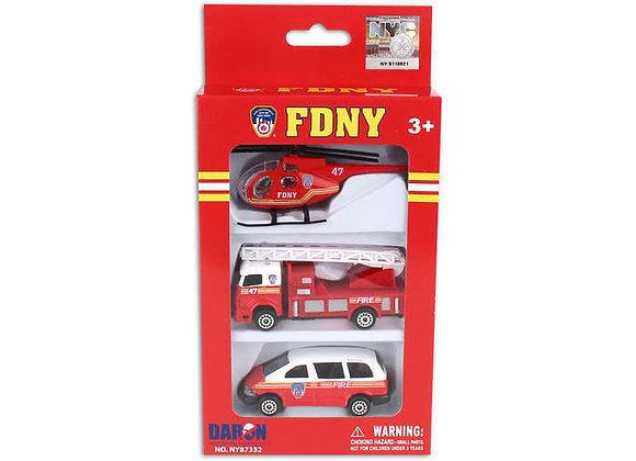 FDNY 3 Vehicle Set