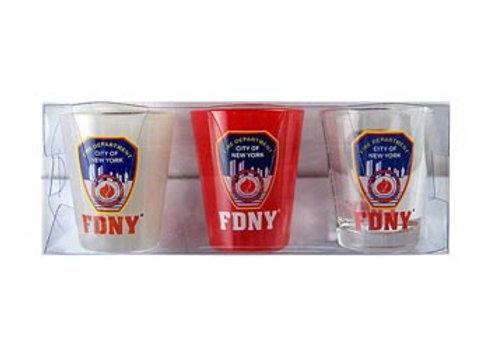 FDNY 3 Pack Shotglasses