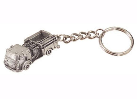 Fire Truck Pewter Keychain