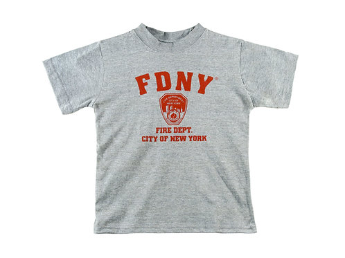 FDNY T-Shirt Grey with Red Print