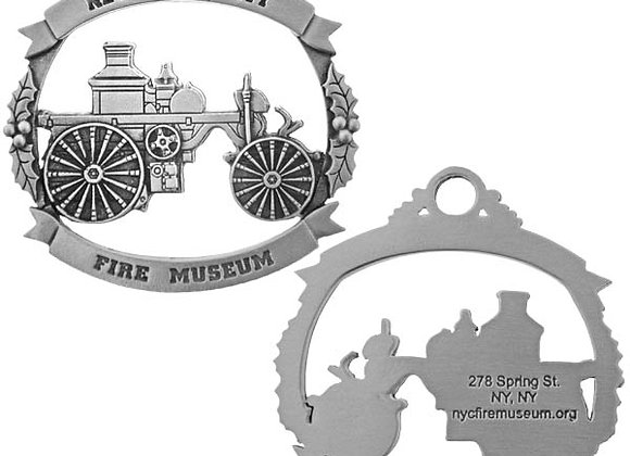 Fire Museum Pewter Ornament