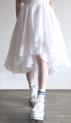 white wing skirt
