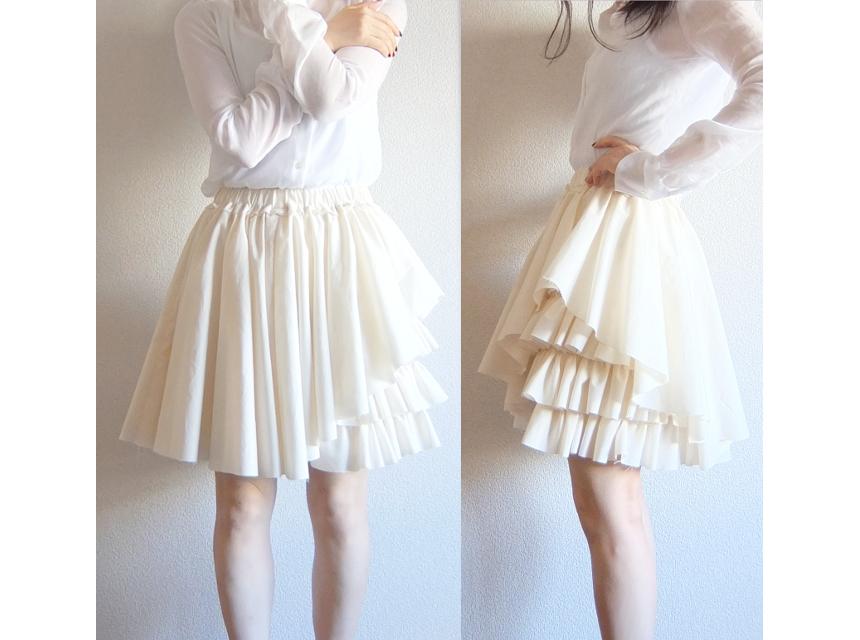 melty cream skirt