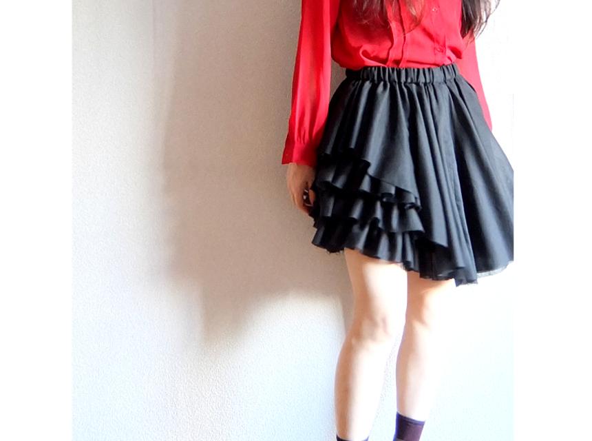 melty black skirt
