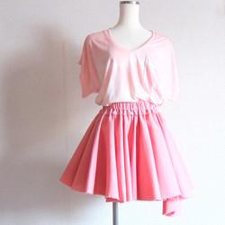 spring pink skirt