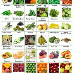 Alkaline Food Grocery List