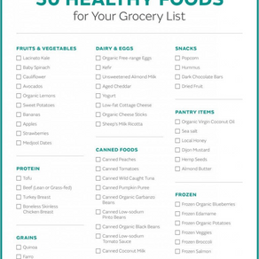 50 Healthy Food Ideas For Your Grocery List