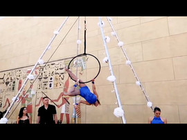 Becca Battoe performs with Aerialogists at Egyptian Theatre